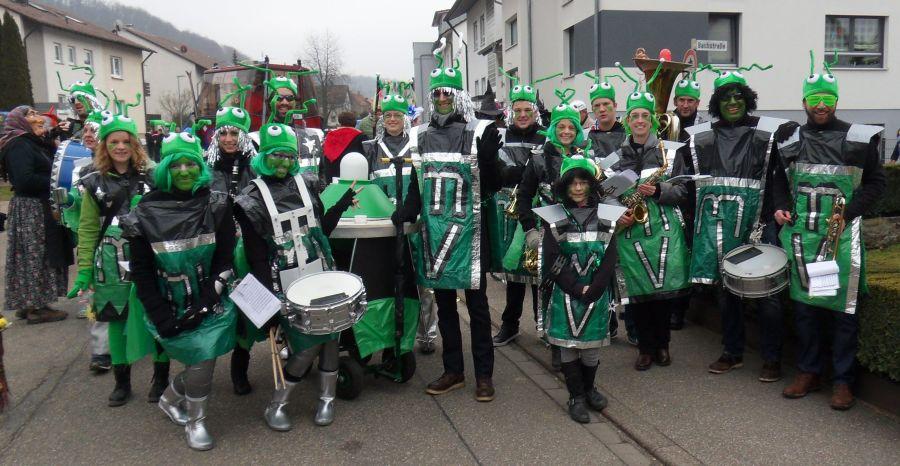 Musikverein Bilfingen beim Faschingsumzug 15.02.2015