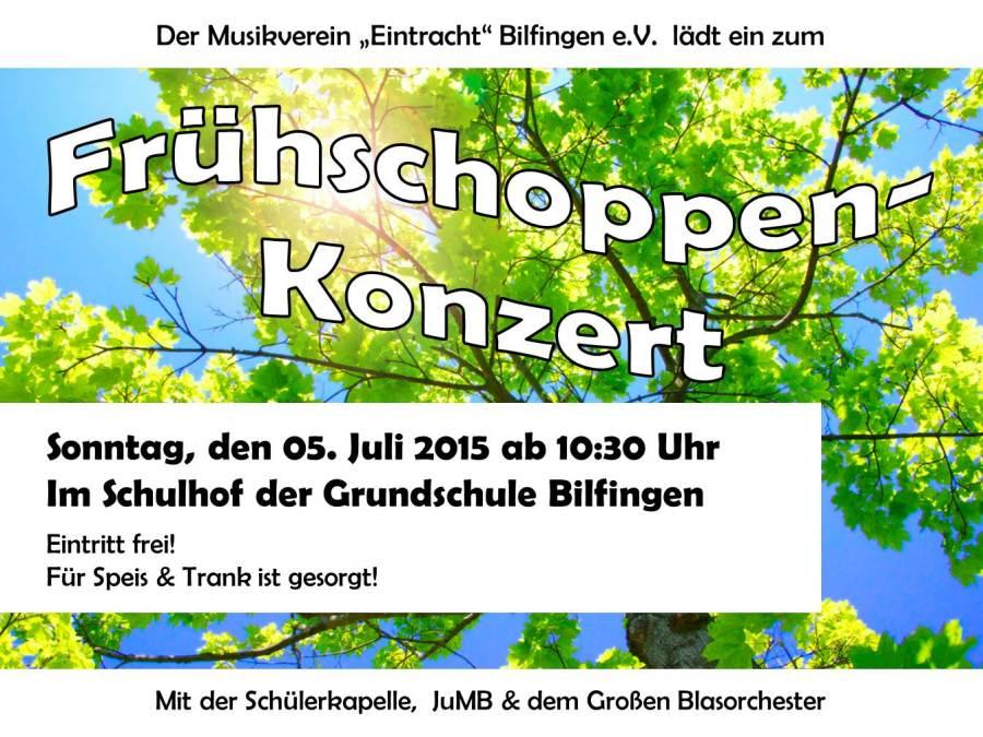 Frühsschoppen-Konzert im Hof der Grundschule BIlfingen