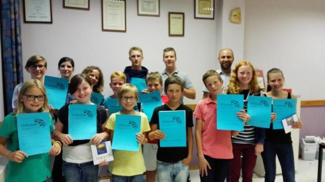 Juniorabzeichen 2015 beim Musikverein Bilfingen