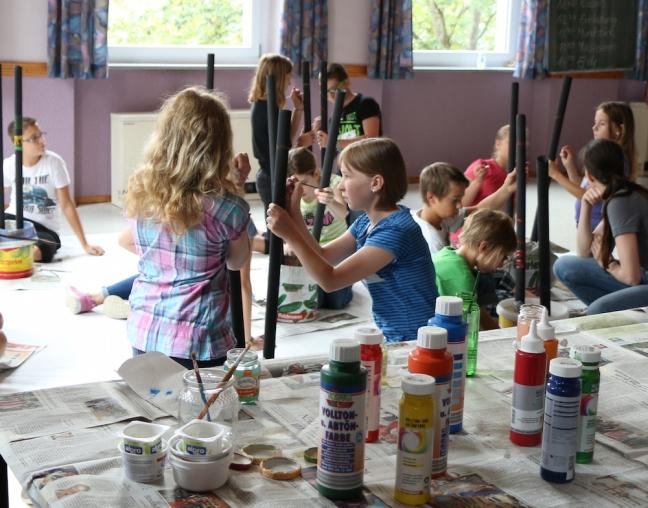 Kinderferienprogramm Musikverein Didgeridoo malen