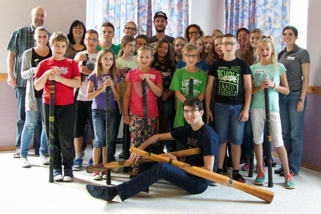 Kinderferienprogramm Musikverein Bilfingen Didgeridoo