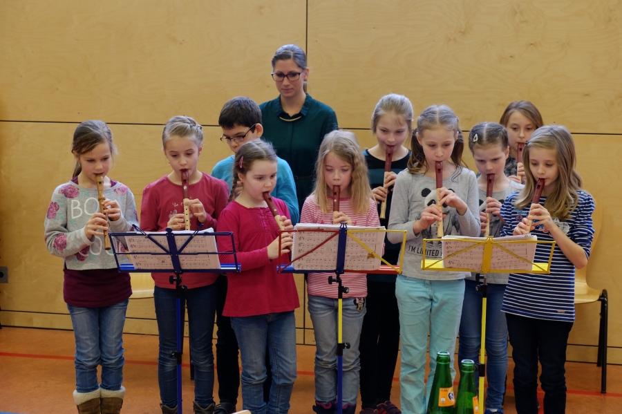 Jugendfrühstück 2016 Flötengruppe