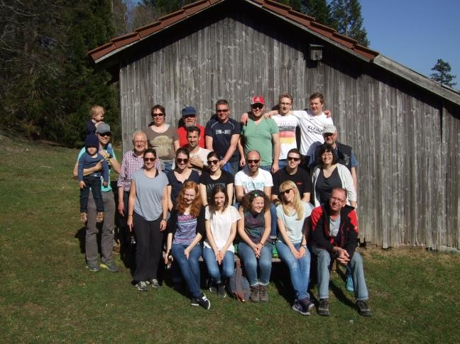 Gruppenbild bei der Grünhütte