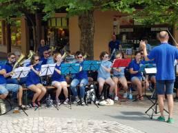 Auftritt des Musikvereins Bilfingen in Tripsdrill im Juni 2018
